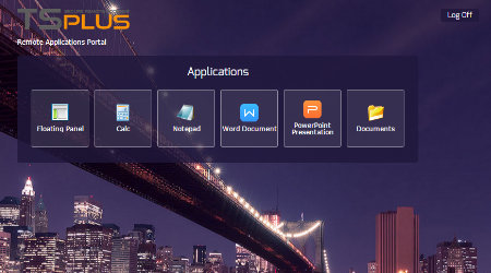 Web Application Portal by TSplus HTML5 Remote Client