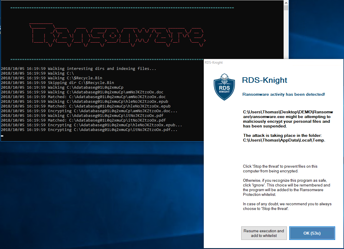 RDS-Knight 3.0 Detects and Stops Ransomware Attacks