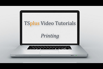 Printing remotely with TSplus