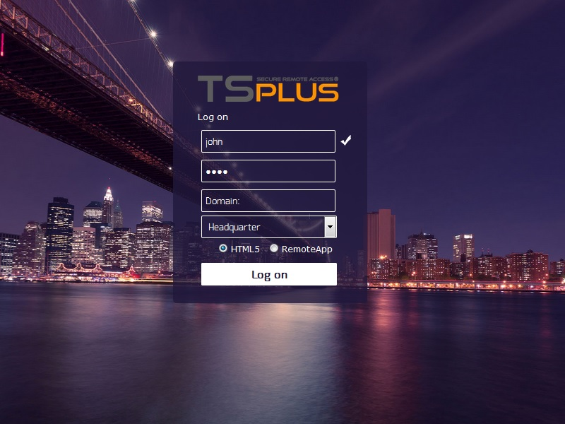 TSplus full screenshot